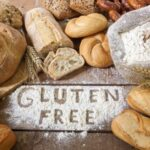 41069134 - a gluten free breads on wood background